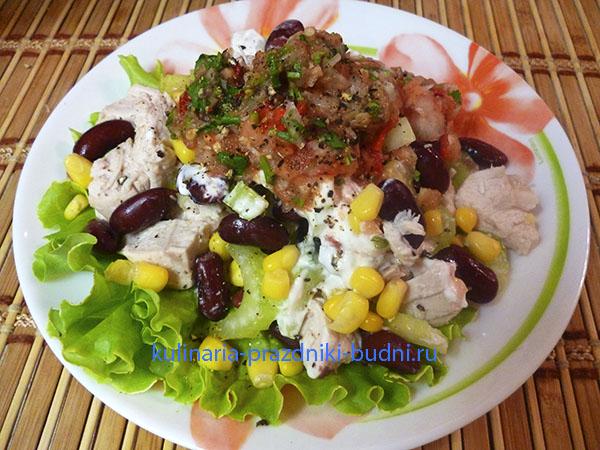 Салат из фасоли и мяса рецепт с очень вкусный