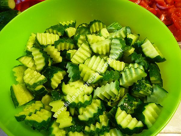 Рецепт огурец кабачок салат