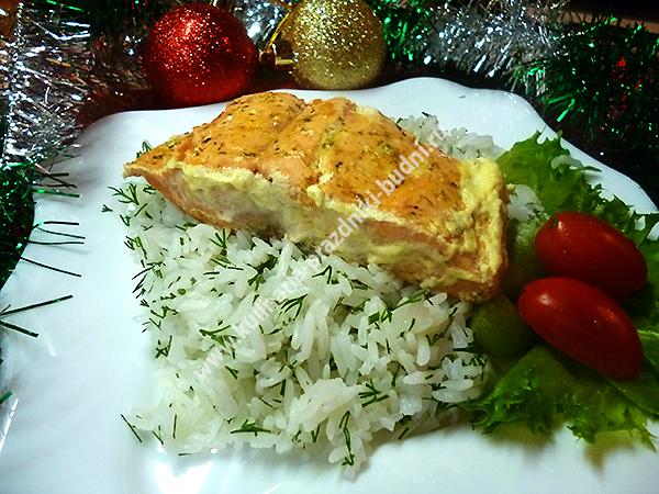 Семга в сливочном соусе на сковороде