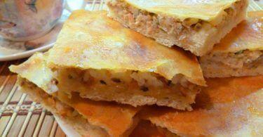 пирог с лососем фото