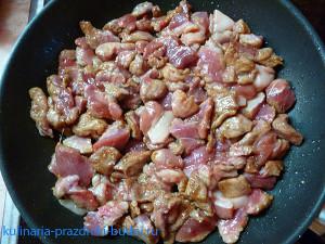 Свинина с мандаринами рецепт с фото