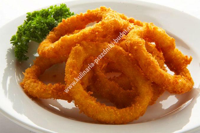 Жареные кольца кальмаров рецепт с фото
