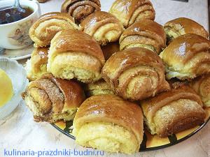 Сдобные булочки с начинкой фото