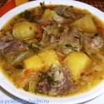 Мясо с овощами по-деревенски