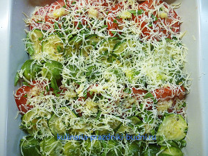 Овощи запеченные в духовке с сыром рецепт с фото