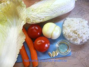 Голубцы, фаршированные овощами