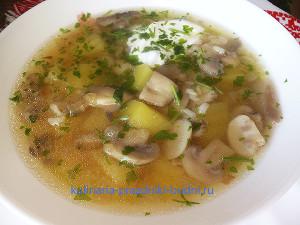 Простой грибной суп