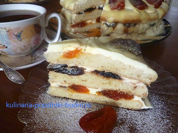 Фруктовый торт домашний рецепт