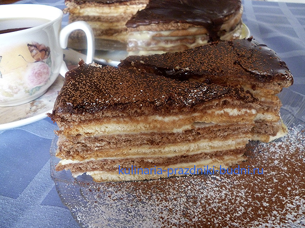 Торт с шоколадной глазурью рецепт с фото