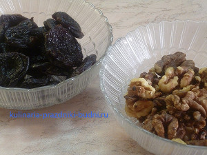 Салат из свеклы с черносливом и грецким орехом