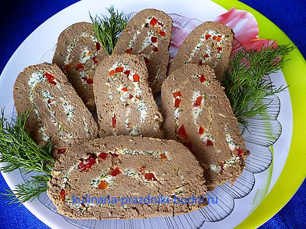 Печеночный паштет из говяжьей печени фото
