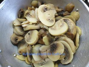 Слойки с грибами