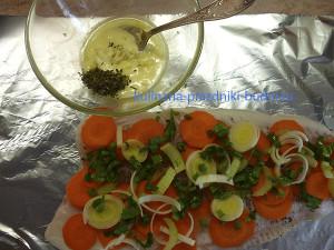 Рыба запеченная в фольге с овощами