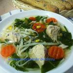 Суп куриный со шпинатом