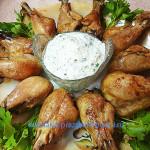 Куриные ножки с сырным соусом