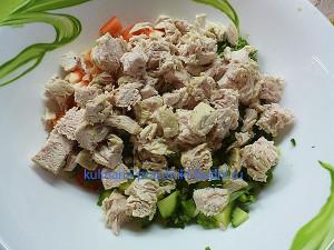 Салат из курицы с эстрагоном