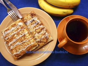 Банановые блинчики фото