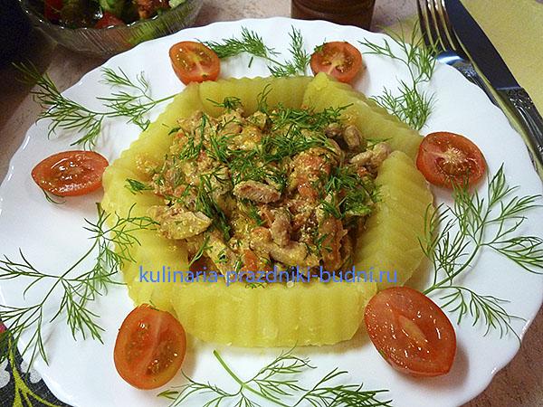 Индейка сливочном соусе фото