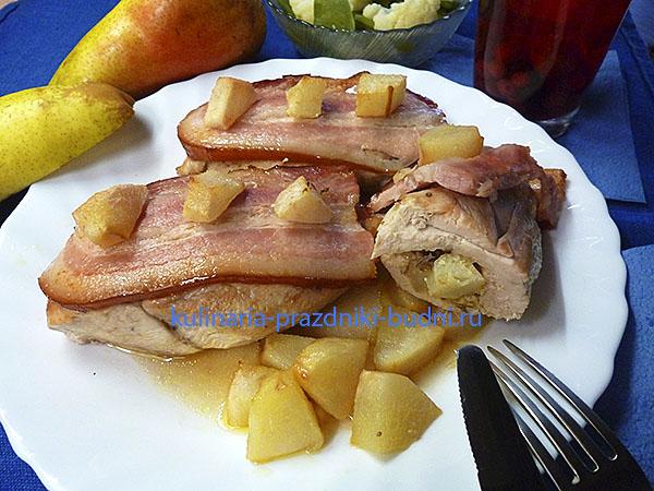 Фаршированное куриное филе рецепт с фото