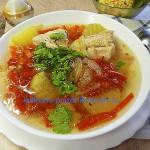 Суп с красным перцем