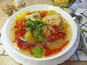 вкусный куриный суп рецепт с фото