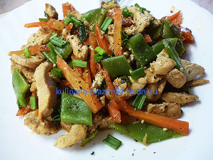 Курица с овощами и йогуртом