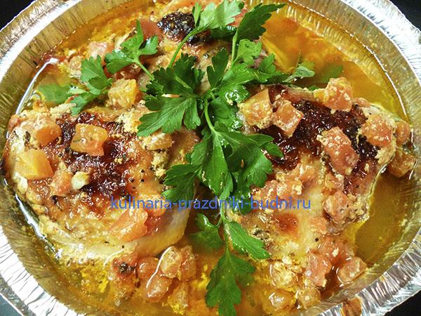 Куриные бедрышки в кефирном соусе