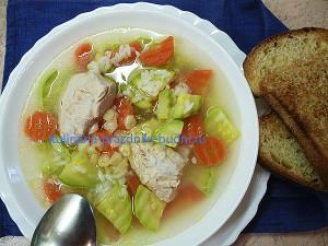 Суп с кабачком и рисом