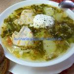 Зелёный суп со щавелем