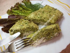 Запеканка с брокколи и курицей