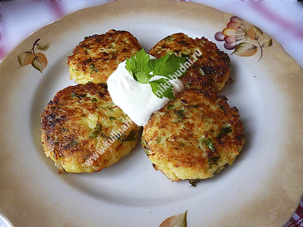 Биточки картофельные с сыром