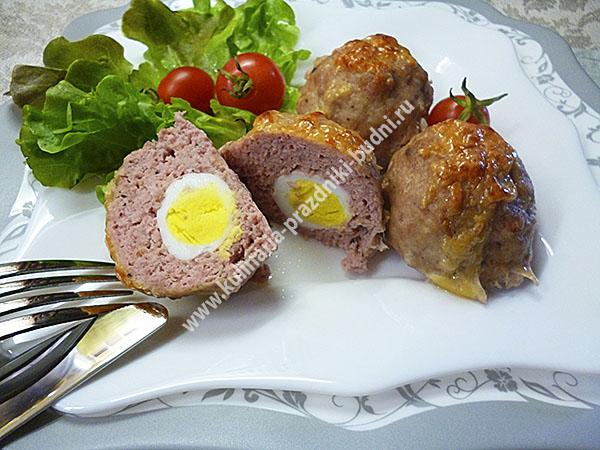 Зразы с перепелиными яйцами рецепт