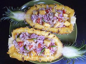 Фаршированный ананас рецепт с фото
