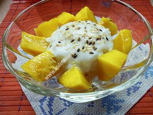 Сладкий рис с манго