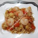 Рис с креветками по-тайски