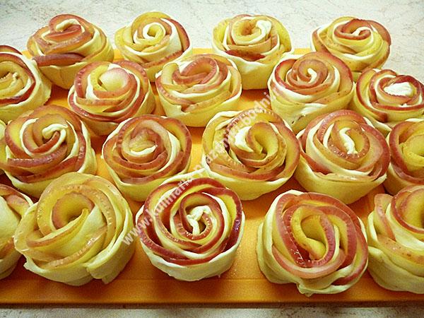 Розочки с яблоками из слоеного дрожжевого теста рецепты 81
