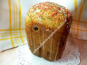 Кулич пасхальный в хлебопечке, кулич ароматный