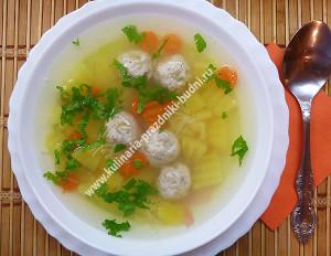 суп фрикадельками с вермишелью рецепт фото