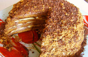 Торт из пряников без выпечки фото