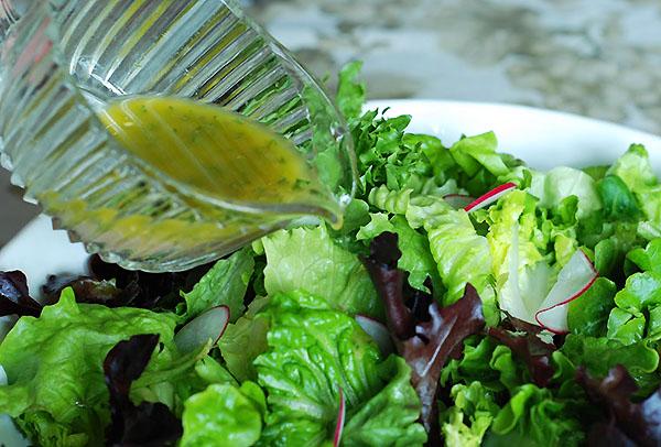 Заправки для овощного салата