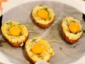 фаршированный картофель запеченный в духовке фото