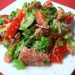 Вкусный салат с грецкими орехами