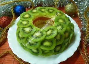 Салат малахитовый браслет с киви фото