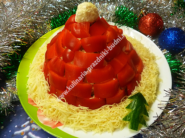 salat-shapka-deda-moroza
