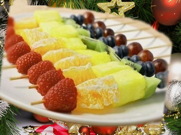 новогодние десерты рецепты с фото из фруктов закалка