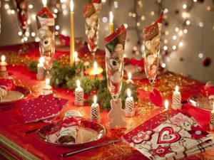 Сервировка новогоднего стола 2017 фото