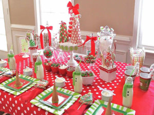 Детский новогодний стол фото