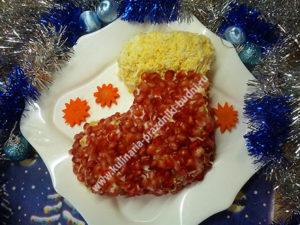Салат сапожок рецепт с фото