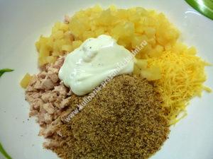 Вкусный салат в тарталетках рецепт с фото