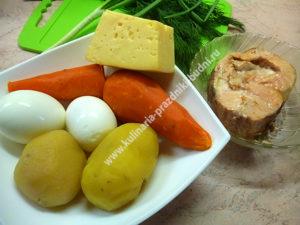 Салат с горбушей консервированной фото